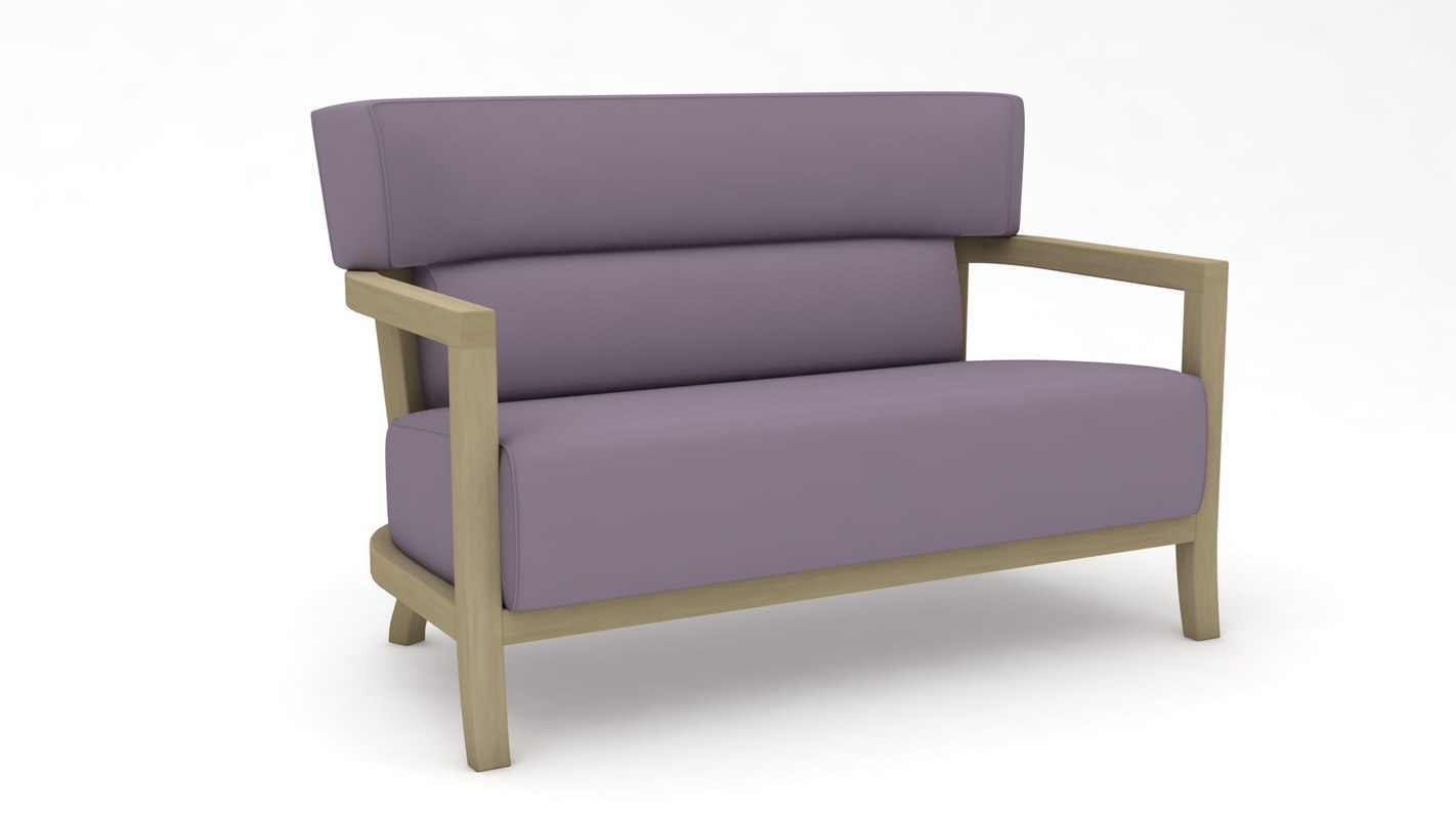 3D couch sofas settee model