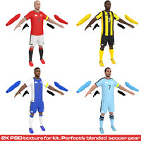 3D pack soccer player