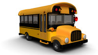 cartoon school bus 3D model