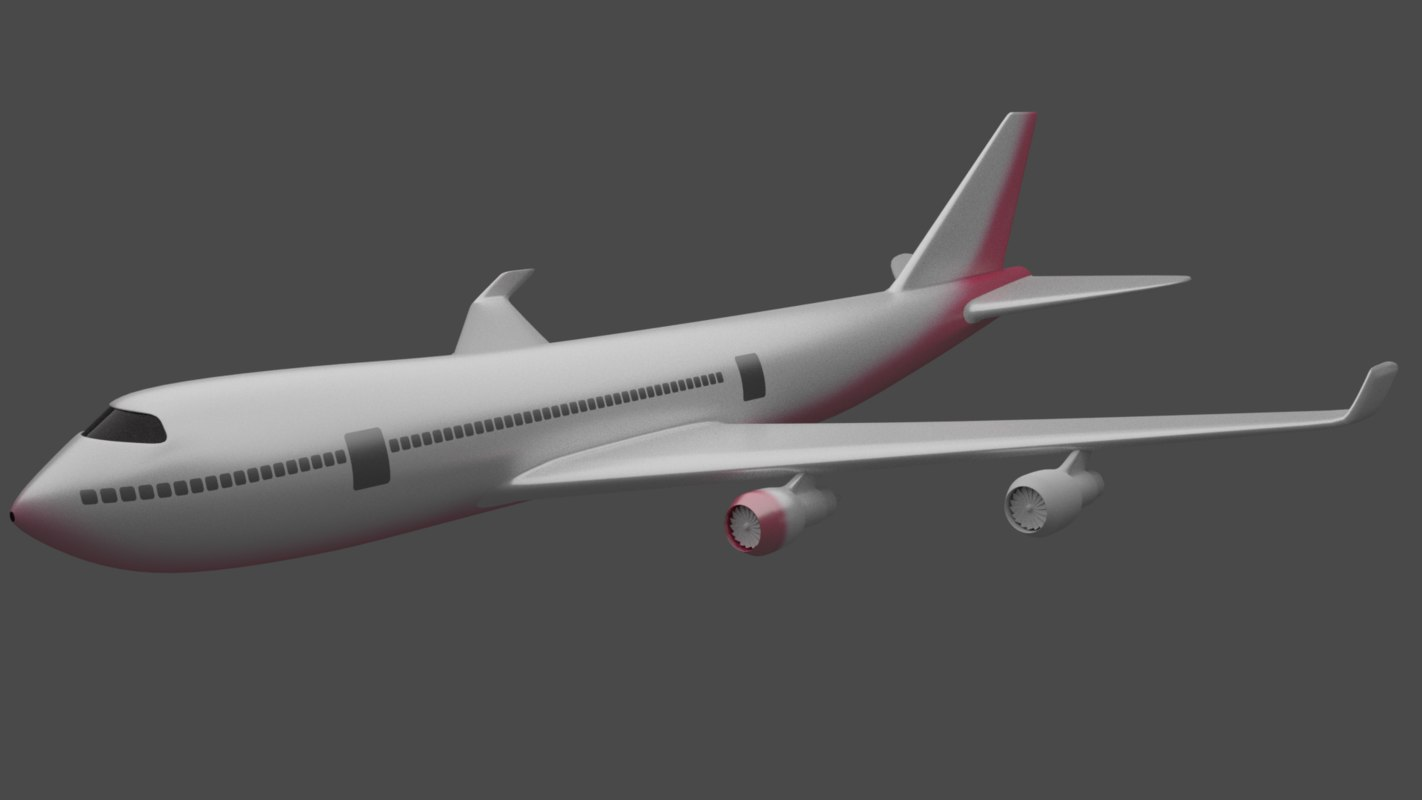 3D aeroplane plane aircraft