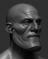 3D head ztl zbrush model