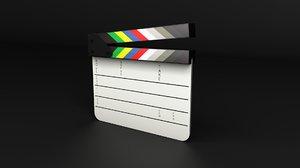 3D model film slate