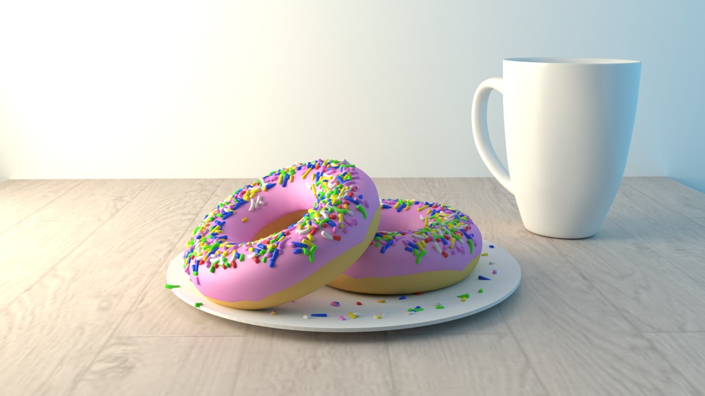 3D donuts cup