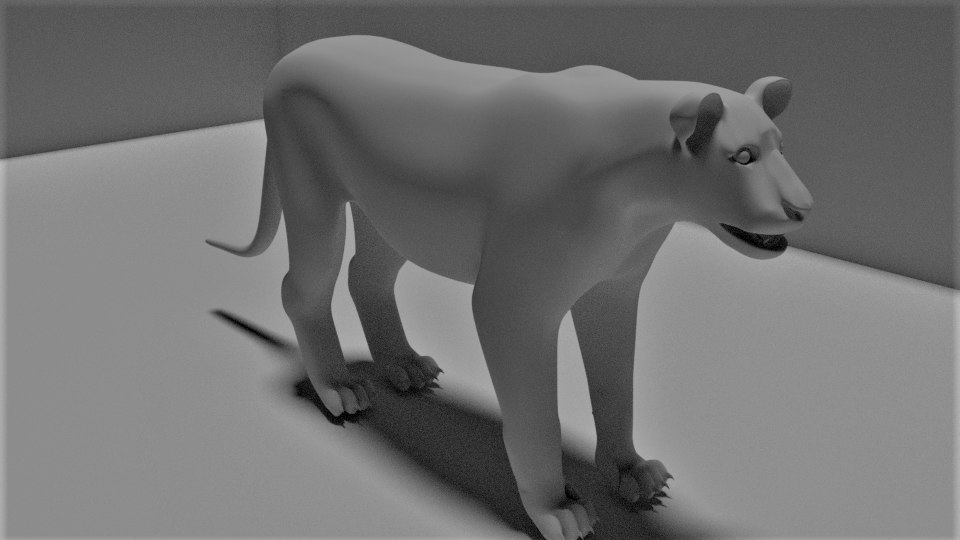 3D lion base model