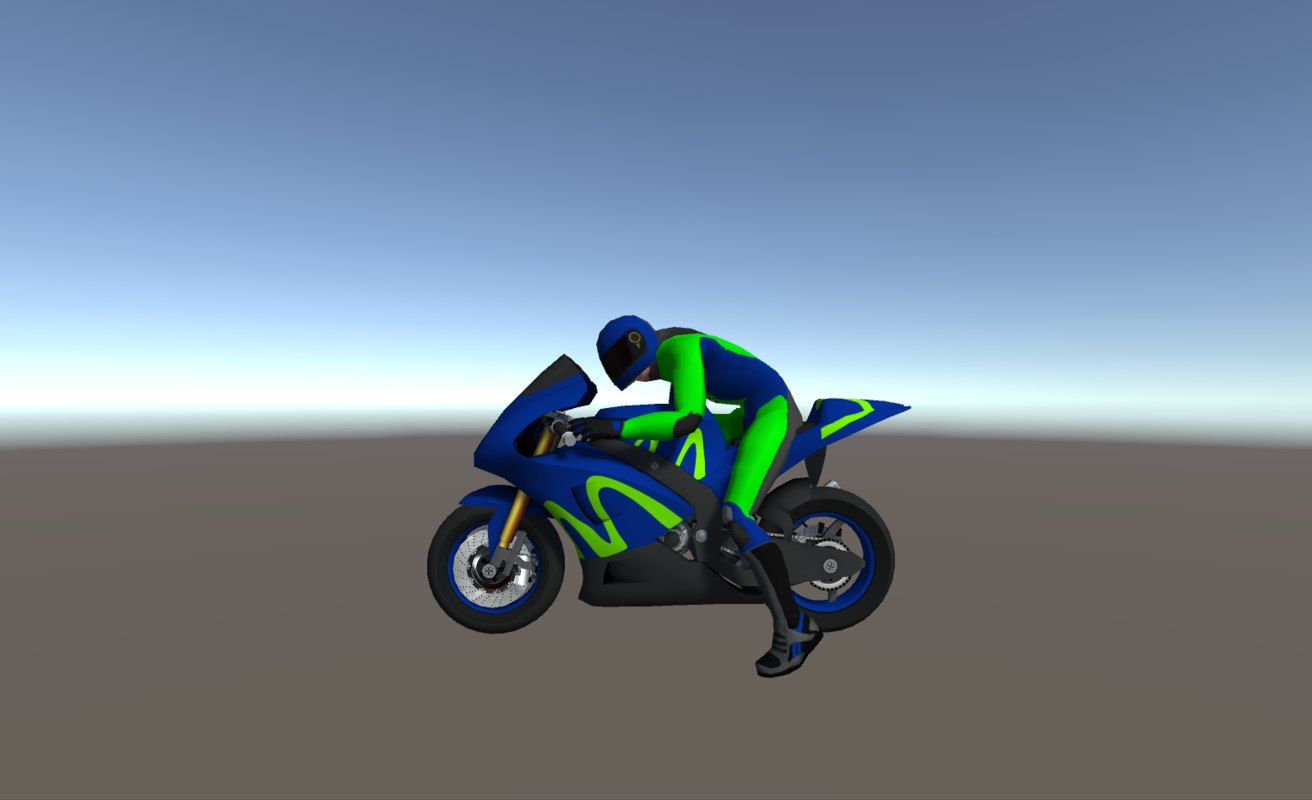 3D racing bikes model