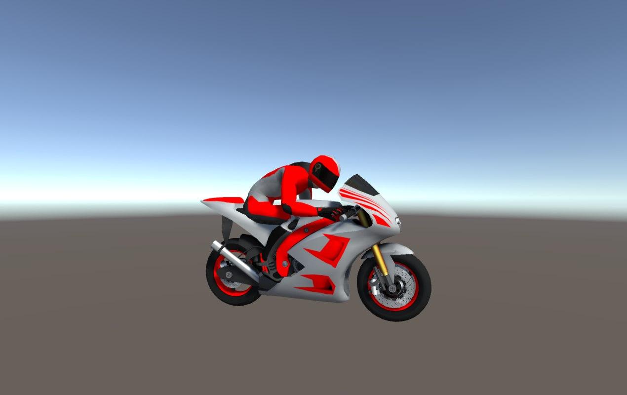 racing bikes 3D model