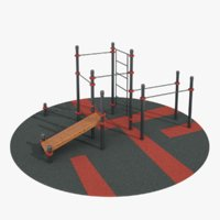 3D calisthenics park ar model