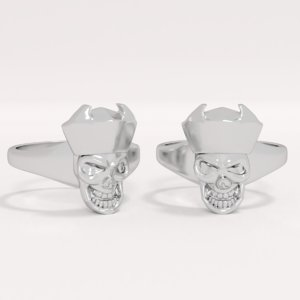 ring skull crown 3D model