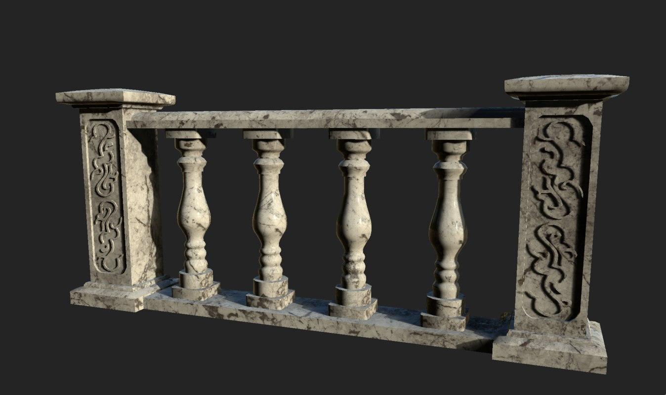 3D marble railing