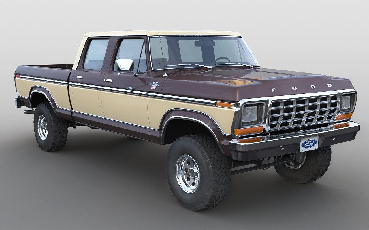 3D 1978 f-250 crewcab model