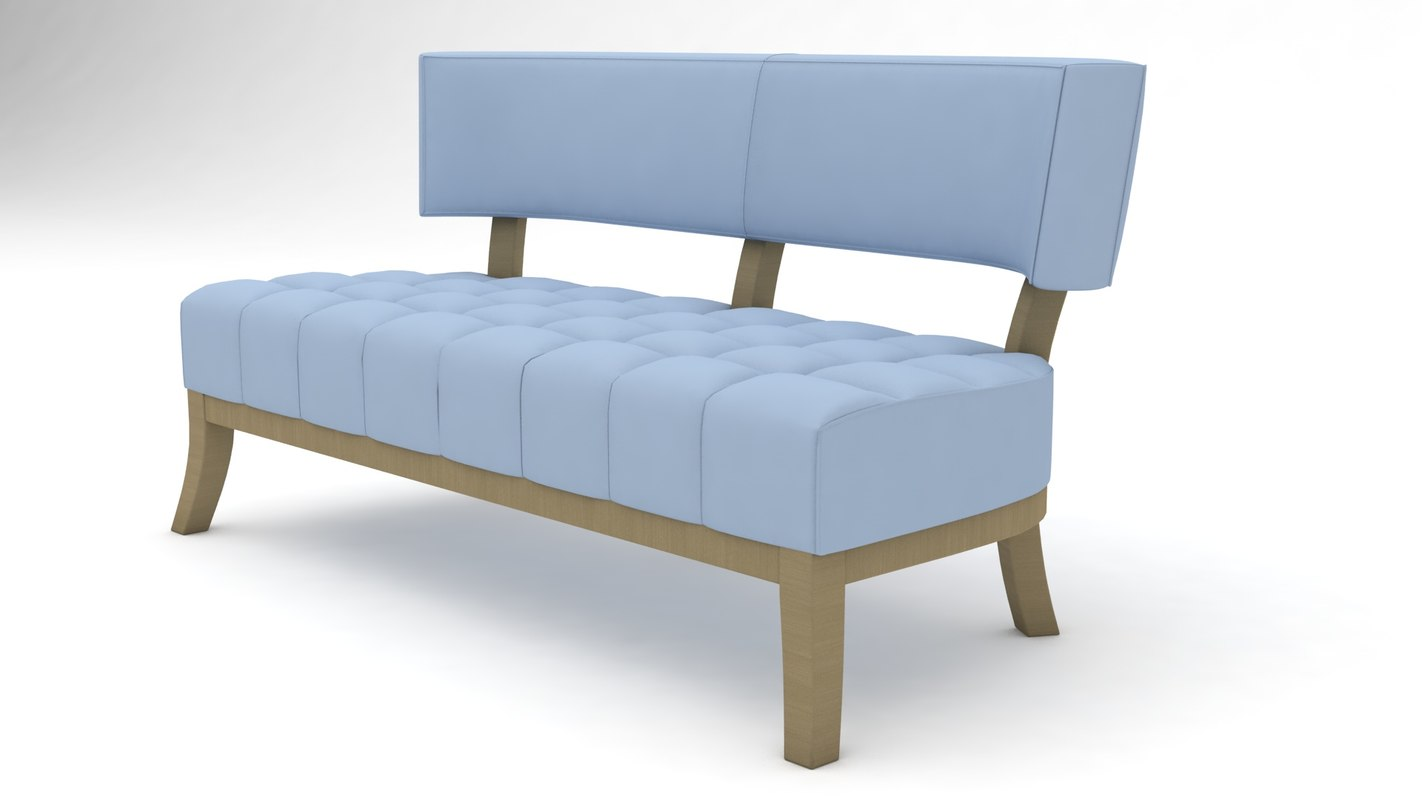 couch sofas settee 3D model