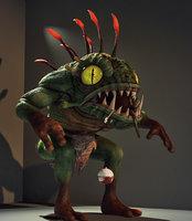 3D monster murloc model