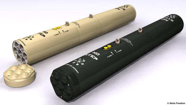 3D m260 launcher rockets