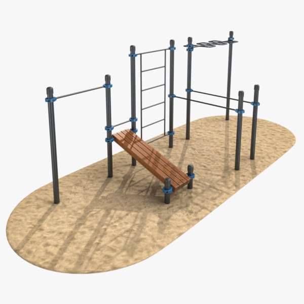 3D outdoor workout spot model