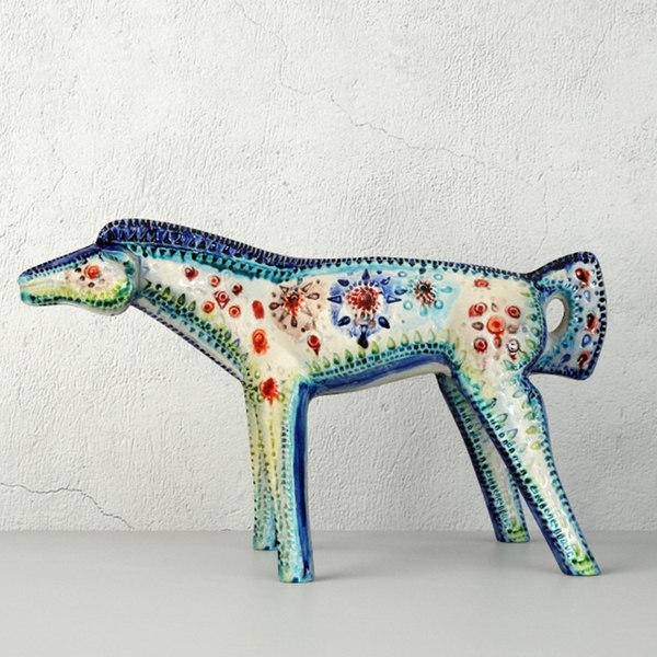 3D vintage italian ceramic horse model