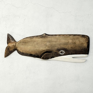 hand-carved whale wall art model
