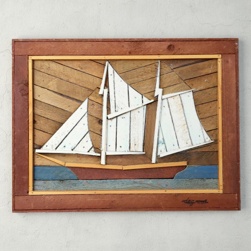 3D folk art painted wood model