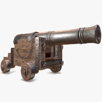 3D pbr war cannon