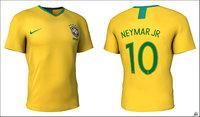 3D shirt soccer brasil