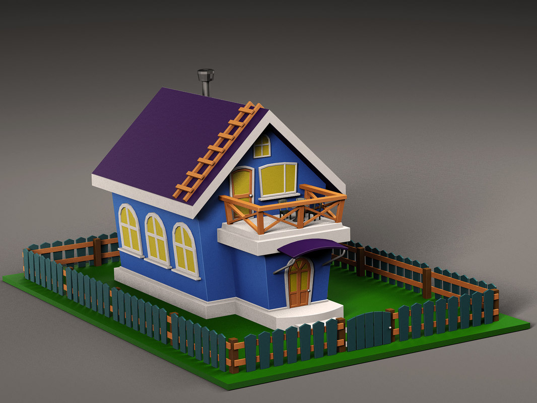 3D cartoon house v3