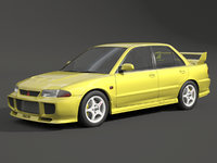 3D mitsubishi evolution evo