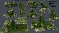 3D rock forest