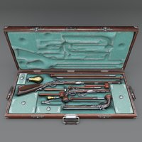 flintlock gun case modeled model