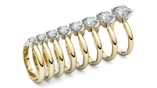 print solitaire rings 3D
