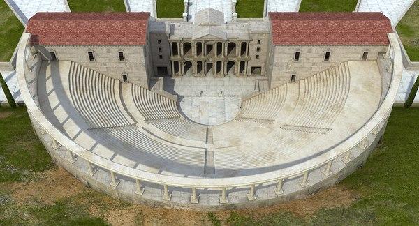 ancient greek architecture roman building 3D model