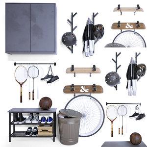 3D storage sports equipment