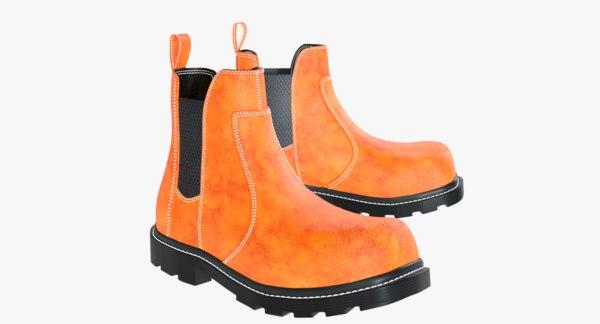 men chelsea boots 3D