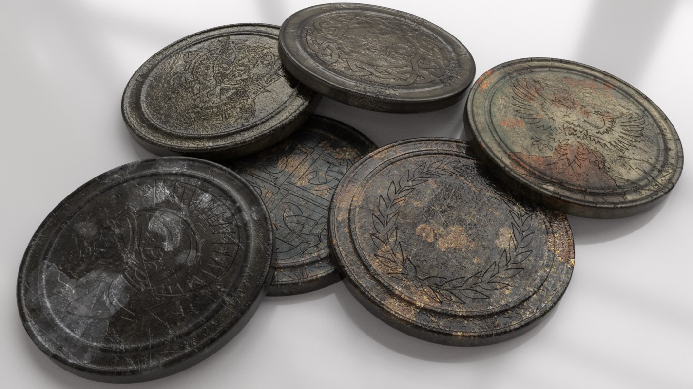 3D artifact coin old model