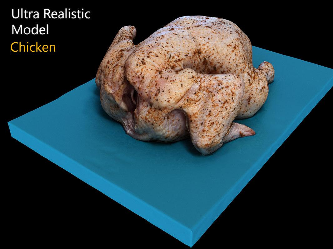 chicken scanned model
