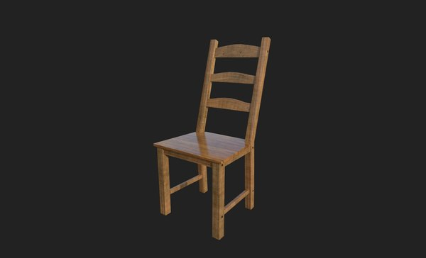 3D wooden chair