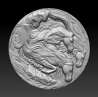 bas-relief horse 3D model