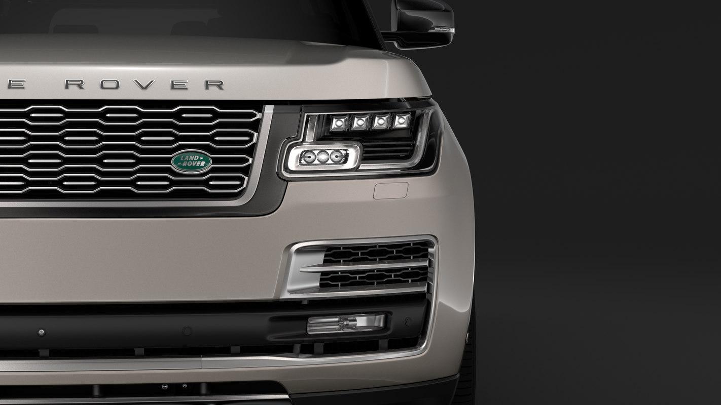 3D model range rover svautobiography limo