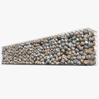 3D gabion baskets wall