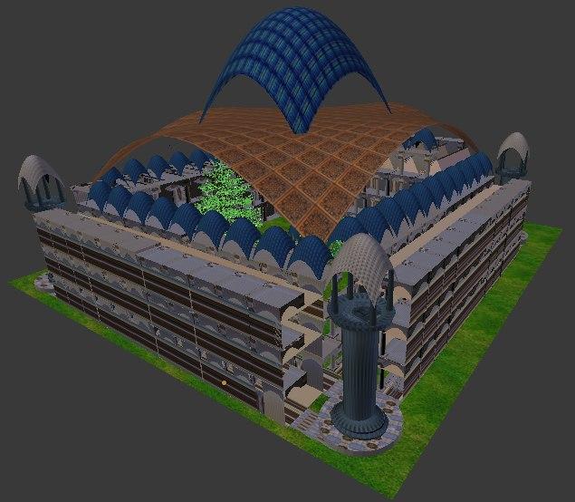 big palace 3D model