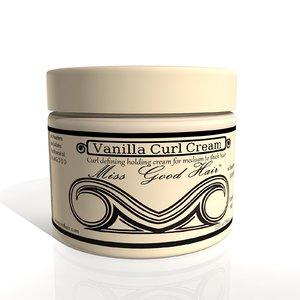 vanilla curl cream 3D model