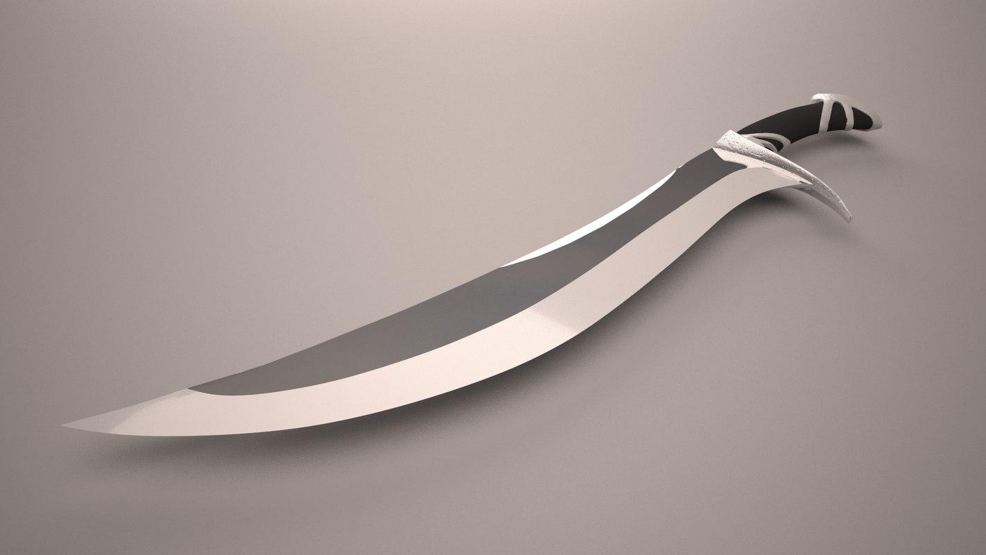 elven sword 3D
