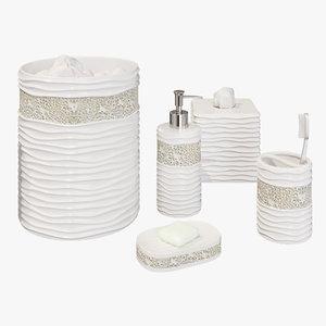 bath accessories 3D model