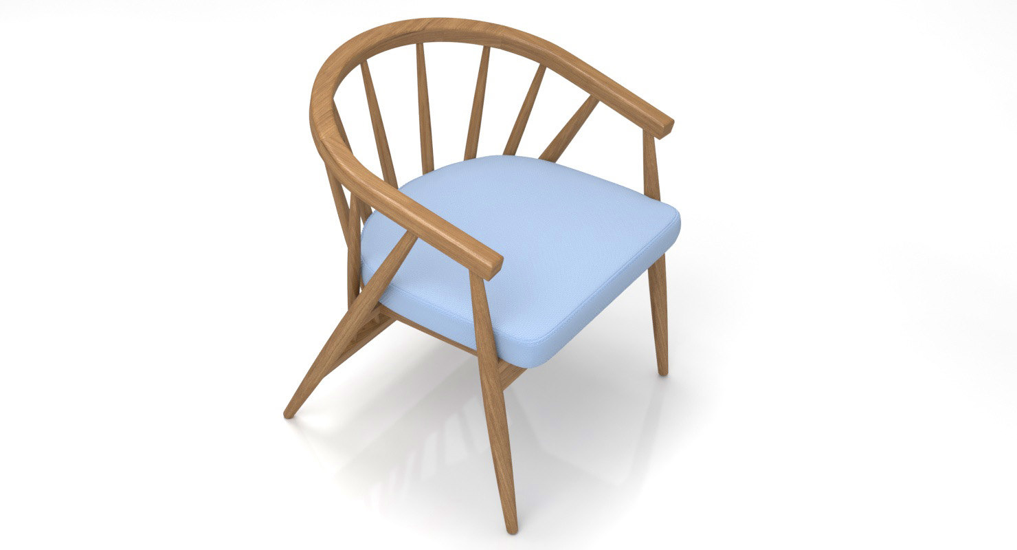 realistic chair vivien 3D
