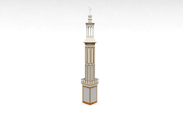 3D model minar mosque