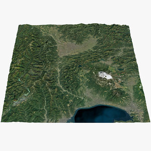 3D mount fuji area real model