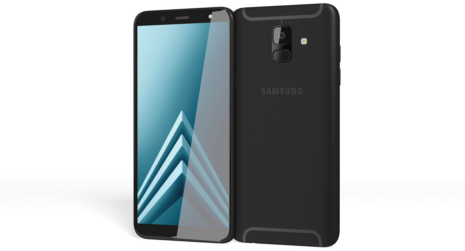 realistic samsung galaxy a6 3D model