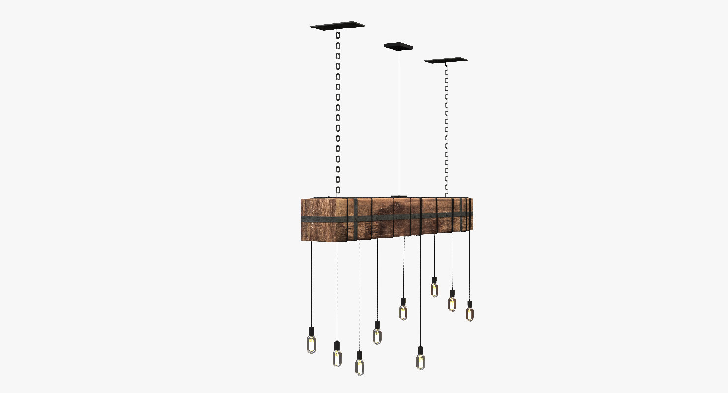 3D wooden beam light