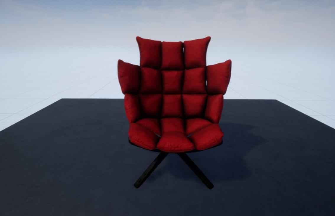 3D armchair - model