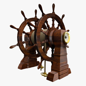 ship helm model