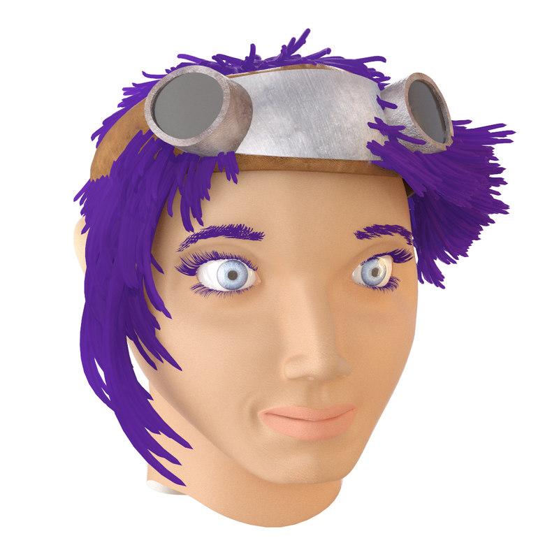 woman face 3D model