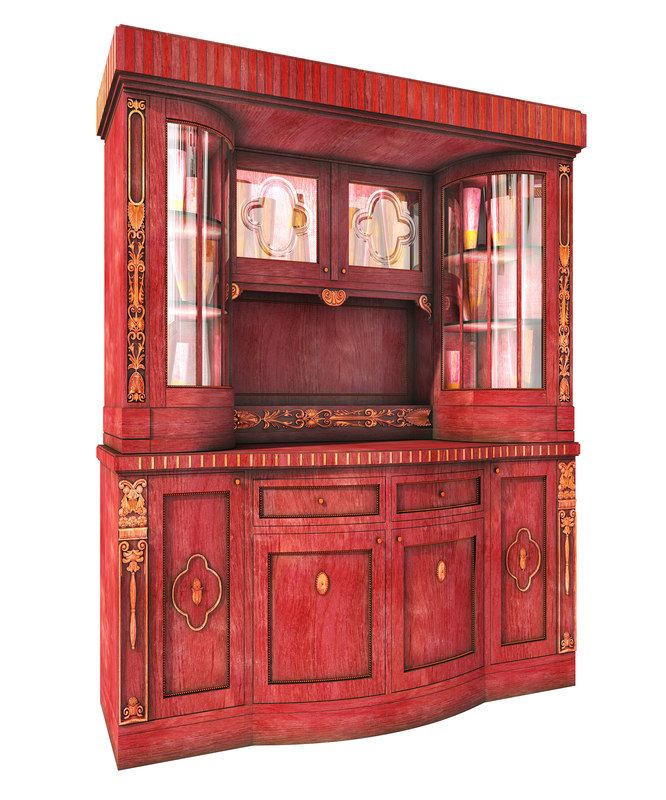 country cupboard 3D model